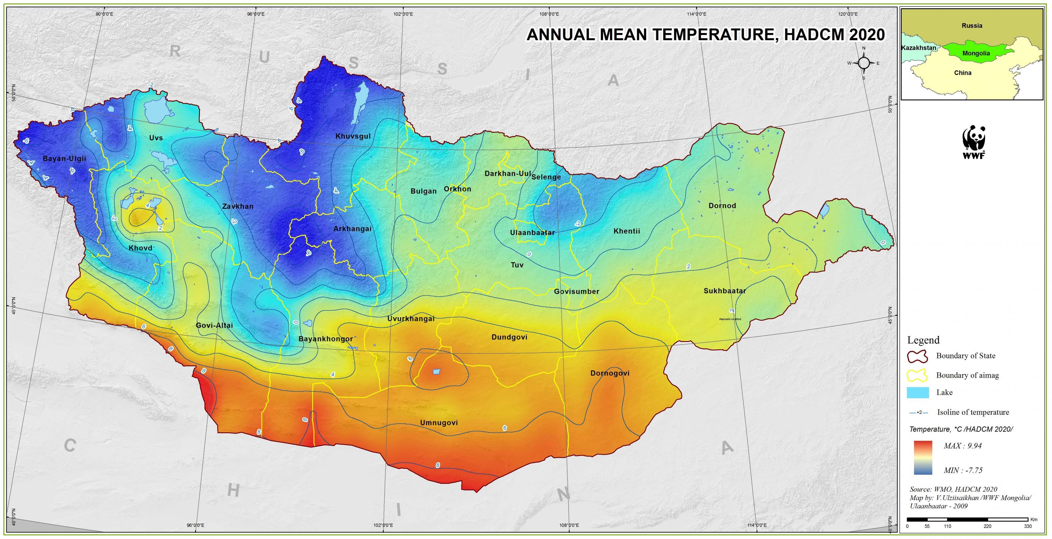 Mongoliet Klima Kort Kort Over Mongoliet Klima Ostlige Asien