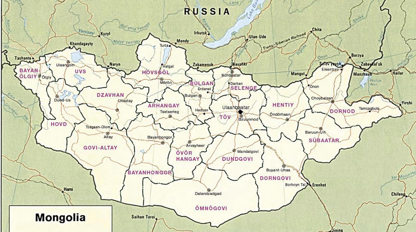 Mongolske Steppe Kort Kort Over Mongolske Steppe Ostlige Asien