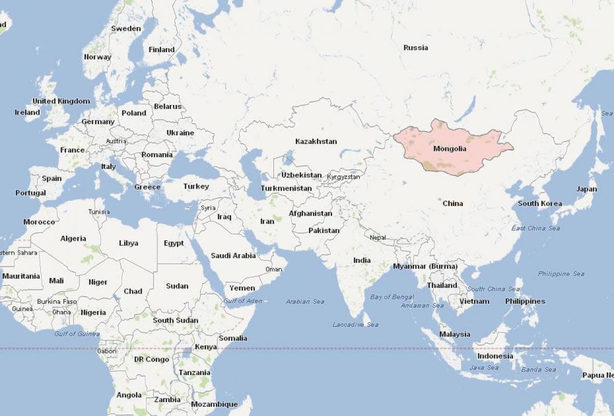 Mongoliet Kort Asien Kort Af Mongoliet Kort Asien Ostlige Asien